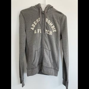 Abercrombie and Fitch Large Grey Hoodie